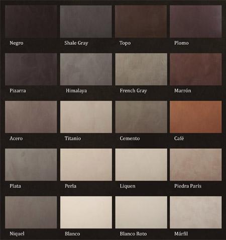 Microcemento madrid colores microcemento - Colores de microcemento ...
